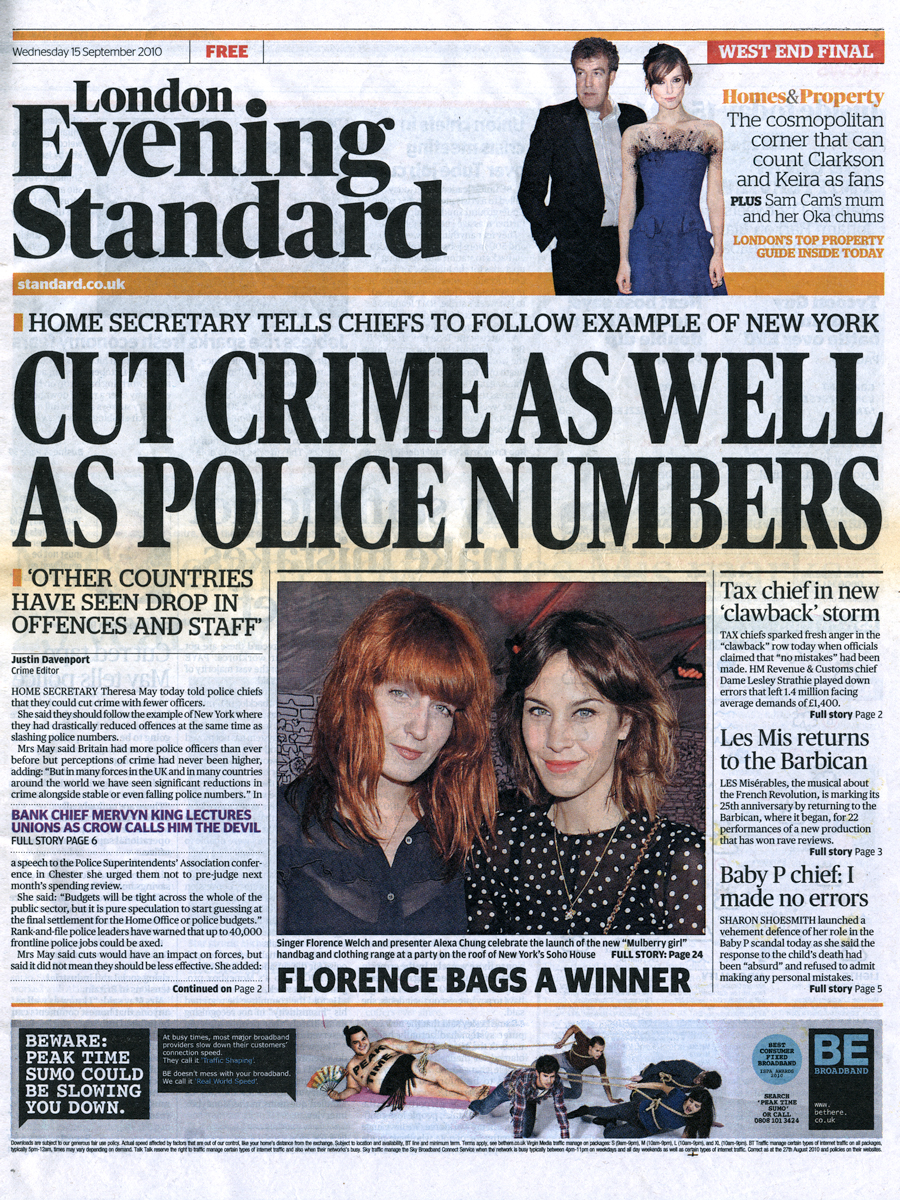 15 Sep 2010 - London Evening Standard